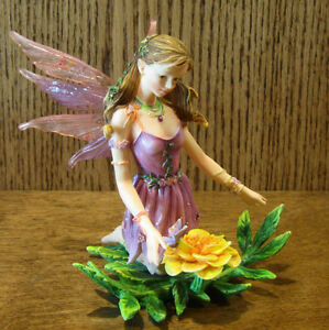 Faerie Glen Faeries FG840 CALENDIA, 2005 Flower Collection NIB From Retail Store