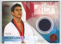 2016 Topps Olympic Team USA Hopefuls Athlete Worn Relic Bronze /75 Steven Lopez