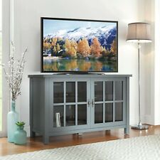 TV Stand up to 55 inch TV - Blue Oxford Square Storage Space Credenza Cupboard