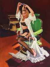 "SALE 20x24 Canvas SHEER DELIGHT ""Vancas Girl"" Pin-Up famous Elvgren Vargas Style"