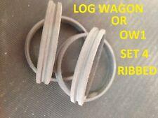 Mamod Neumáticos OW1 LW1 Vagón & registro Vagón Conjunto de 4 Máquina De Canalé vestida!