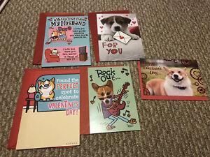 X5 Valentines Day Corgi Dog Greeting Card Hallmark- Husband Love You