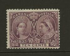 1897 CANADA SG131 10c Purple QV Jubilee Fine Unused MNG