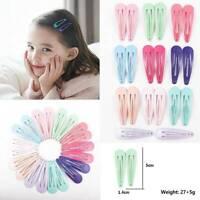 20Pcs Glitter Hairpins Snap Hair Clip for Kids Girl Metal Barrettes BB Clips 5cm