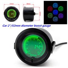 "Metal Black 2"" 52mm Turbo Boost Vacuum Car Digital LED Light Gauge Meter 35 Psi"