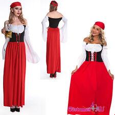 Beer Girl Costume OKTOBERFEST Women Munich Dress German Bavarian Long Outfit