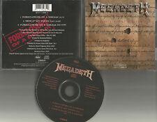 MEGADETH Foreclosure of a Dream w/ LIVE & EDIT 3TRX LIMITED USA CD single 1992