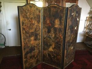 Victorian 3 Fold Scrap Decoupage Screen Restoration Project