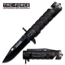 "Tac Force Tactical 8.25"" Spring Assisted Folding Pocket Knife - Black and Grey"