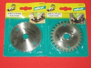 HM +Cv  Kreissägeblatt Ø85,7x15 Z28 +56 Zähne Wolfcraft Sägeblatt