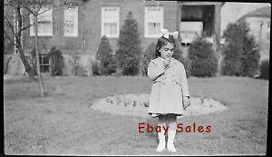 #AB ll Vintage Amateur Photo Negative- Little Girl - Old Shot