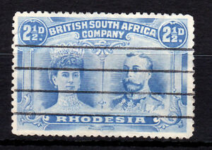 Rhodesia-1910/13. 21/2d Double-Head, P14. Fine used