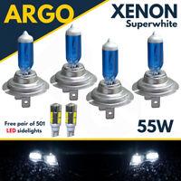 4x H7 Xenon 55w White Super Upgrade Headlight Bulbs Set Hid 499 501 Full/dipped