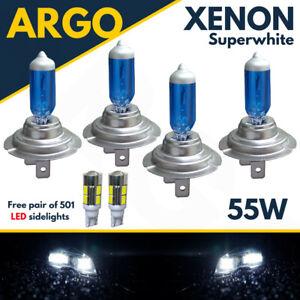 H7 Xenon Super White 55w Headlight Bulbs Headlamp Hid 499 Dipped Main 501 Led 4x