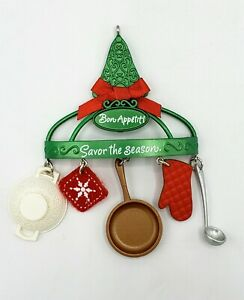 Hallmark Keepsake Christmas Ornament BON APPETIT 2015 Cooking Baking Kitchen
