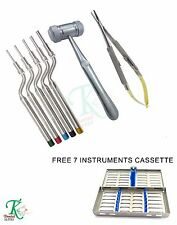 Dental Implants Tools Sinus Osteotomes Kit Surgical Mead Mallet Castroviejo New