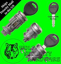 Chrysler Dodge Ignition Key Switch Lock Cylinder & Door Lock Set 3 Regular Keys