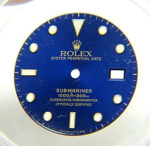 Genuine Rolex Submariner 16613 16618 16803 16808 Blue & Gold Tritium Watch Dial