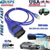 USB Cable KKL VAG-COM 409.1 OBD2 OBDII Diagnostic Scanner VW/Audi/Seat VCDS