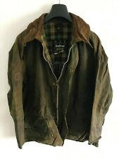 Mens Barbour Beaufort wax jacket Green coat 46in size L/XL Large / Extra Large