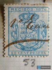 Sello fiscal recibos Alfonso XII 1876, 12 céntimos (2)