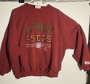 S.F. 49ers Vintage Logo Athletic Sweatshirt  Embroidered Lettering XL 27x26 NFL