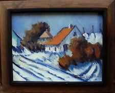 Arnold William Pedersen 1912-1986, winterliche Dorfszene , um 1950/60