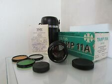 NEW ! IN BOX ! SOVIET RUSSIAN TAIR-11A 135mm f2.8 M42 s/n 864894 Lens FULL SET