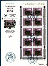 BRD 1980 Kleinbogen FDC MiNr. 1065  FIP Kongress Essen 1980
