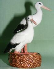 More details for klima miniature porcelain bird figure storks on nest m110
