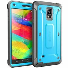 Galaxy Note 4 Case Full body Rugged Hybrid Case Built in Screen Protector Blue