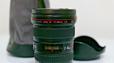 Canon EF 17-40mm F/4 L USM Lens with lens hood, pouch
