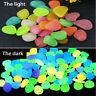 50x Luminous Pebble Stone Glow In The Dark Fish Tank Garden Yard Shiny Decor