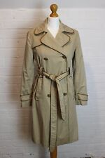 ANYA HINDMARCH Leather Trimmed Mac / Trench Coat / Jacket - Size Small - S