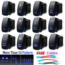 Interruptor On-Off Dual azul LED luz barra Impermeable Coche Barco Bus RV 12V 24V