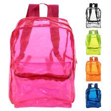 Large Clear Transparent Backpack Stadium Security TSA School Book Bag Travel