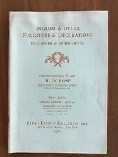 ENGLISH, OTHER FURNITURE Billy Rose Estate Apr 1967 Parke Bernet Auction Catalog