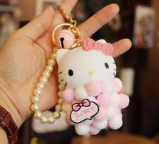 e145319b3 Pink Cute Hello Kitty Key Chain (key ring) c/w Plush Balls Bag
