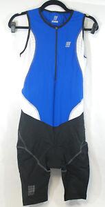 CEP Sportswear Mens Dynamic + Triathlon Skinsuit Sleeveless Size L Blue Black