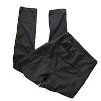 VIE ACTIVE Gray High Waisted Activewear Capri Leggings Pockets Womens Sz Small