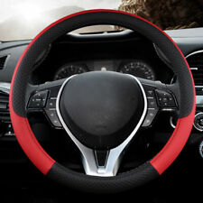 "15"" Universal PU Leather Car Steering Wheel Cover Protector Red  Color for Truck"