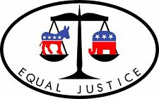 TRUMP EQUAL JUSTICE IMMIGRATION MAGA LAW ORDER 2020 DECAL STICKER MAGA