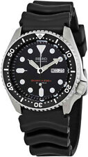 Seiko Men's Automatic Black Dial Black Rubber Watch SKX007J1