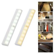 1×10 LED Motion Sensor Wireless Light Lamp Portable Closet Cabinet Night Light