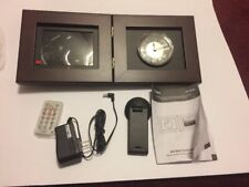 """Coby Digital Photo Frame & Analog Clock 5.6"""" LCD, MP3, Stereo Sound, NEW In Box"""