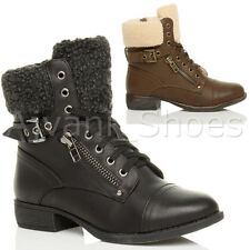 Block Heel Ankle Boots Synthetic Leather Shoes for Women