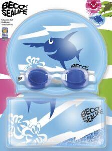 Beco Sealife Swim Set II 96054 Schwimmbrille Silikonhaube Beutel Schwimmset 3tlg