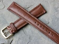 Pulsar watch band padded & stitched Genuine Leather 18mm vintage 1960s/1970s NOS
