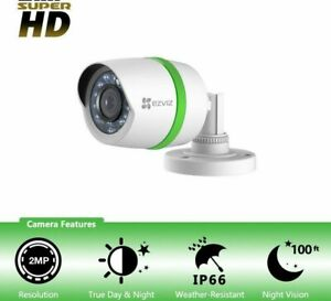 EZVIZ SUPER HD 1080p 2MP CS-C3T-2PR Camera Security Weatherproof Night-V Add-on