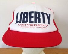 Vtg Liberty University Virginia Mesh Trucker Baseball Cap Hat Adjust Snapback